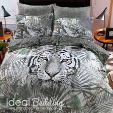 white tiger duvet set and pillowcase bedding set duvet sets complete bedding sets bed sheets pillowcase