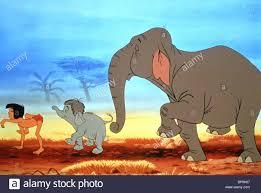 mowgli baby colonel hathi the jungle book 1967 stock image