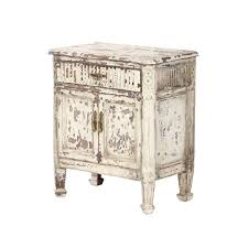 antique white nightstand. Antique White Distressed Nightstand Photo - 3