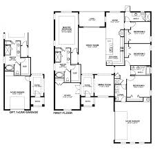19 4 Bedroom Floor Plans 2 Story Side Load Garage 4 Bedroom House Floor  Plans With