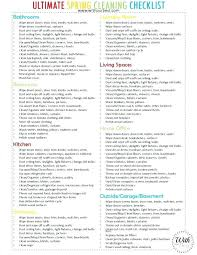 Checklist Template Weekly House Cleaning Schedule My Free