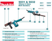 makita belt sander 9032. download brochure makita belt sander 9032 n