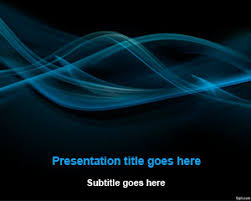 Black Template Free Black Smoke Abstract Powerpoint Template