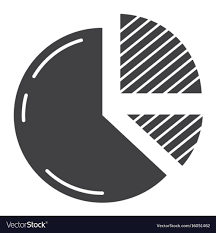 Pie Chart Solid Icon Business And Diagram