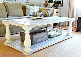 how to distress a wooden coffee table