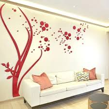 acrylic home decor large size round dots tree wall stickers home decor living room art background acrylic home decor creative acrylic mirror wall