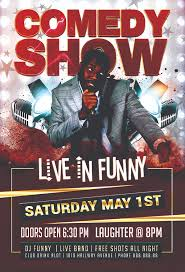 Free Flier Template Funny Comedy Show Flyer Psd Template Free Download