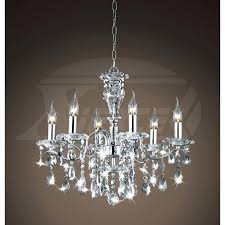 brushed nickel crystal chandelier round polished pertaining to contemporary property prepare orb 6 light brushed