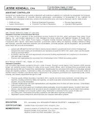 Sample Controller Resume Example Of Corporate Controller Resume