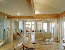 lighting for beams. Lighting On Beams Living Room Beach Style With Light Wood Pendant For E