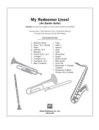 My Redeemer Lives Drums Mark Hayes Choral Pax Sheet