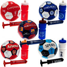 sentinel new football club supporters ball gift pack set with pump drinks bottle