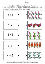 Math Worksheets Kindergarten Addition and Subtraction ...
