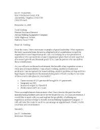 Simple Resume Cover Letters Manufacturing Cover Letter Examples