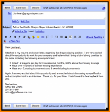 Sending Cover Letter Via Email 2017 Email Cover Letter
