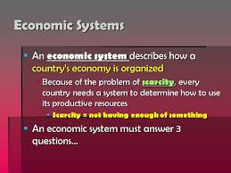bell ringer  minutes to finish your govt essay if you need it  economic systems  an economic system describes how a countrys economy is organized  because of