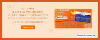 receive a free 7 pc gift with your 50 ole henriksen purchase
