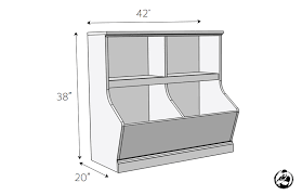 diy bookcase with toy storage plans dimensions