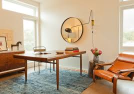 mid century modern office. Popular Colors For Mid-century Style Home Offices Include Beige, Orange And  Medium To Dark Stained Wood. Another Very Popular Color Of This Time Period Is Mid Century Modern Office E