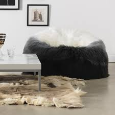 fake fur stool mongolian lamb bench faux target uk pouf ottoman ottomans chair sheepskin west elm insert extra large leather table round oval tufted black