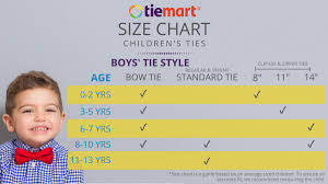 Boys Size Chart By Age Boys Tie Sizes And Lengths Size Chart Shop At Tiemart
