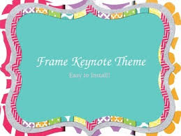 Powerpoint Frame Theme Bright Frame Keynote Theme Easy To Install