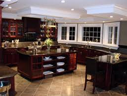 kitchens with dark cabinets and tile floors. Plain Tile Kitchen Floor Tiles With Dark Cabinets Throughout Kitchens And Tile Floors L