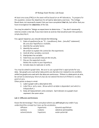 Designing A Controlled Experiment Ap Biology Answers Ap Biology Exam Review Lab Essays