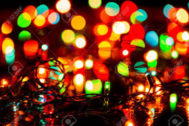 Blurred Christmas Or Fairy Lights Christmas Decoration Background
