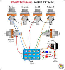 true bypass looper led, dpdt switch wiring diagram effects true bypass switch wiring diagram at Pedal Wiring Diagram
