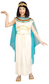 White Cleopatra Cosplay Egyptian Queen Girls Deluxe Costume
