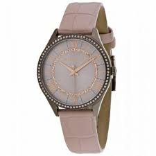 michael kors women s leather strap rose gold steel case watch mk2722
