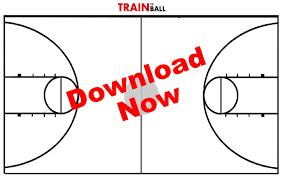 Printable Basketball Court Diagrams Clip Art Library