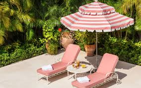 pool lounge chairs. Pink Lounge Chair With Striped Umbrella Pool Chairs E