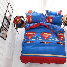new superman king queen full size bedding set cartoon kids children baby sheet duvet cover pillow linen home textile s02 grey and blue bedding fine