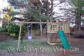 DIY wooden playground/playset tutorial with plans