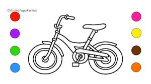 Small Picture Bicycle Coloring Pages For Kids Children Toddler Learn Colors