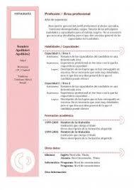 Curriculum Vitae En Pdf Cv En Pdf Modelo Curriculum