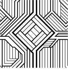 Geometry Coloring Pages Free Printable Geometric For Adults