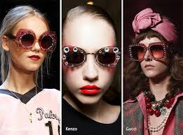 gucci 2017 sunglasses. spring/ summer 2017 eyewear trends: glittering sunglasses gucci