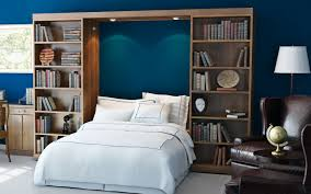 Murphy Beds with Bookcases | Abbott Library Murphy Bed | Wall Bed ...