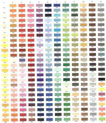 Isacord Thread Chart With Color Names Printable Brother Thread Color Chart Www Bedowntowndaytona Com