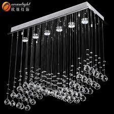 retractable lighting fixtures. Chrome Linear Crystal Pendant Chandelier Transparent Ceiling 6 Lights Lamp Lighting Fixture Om711 Retractable Fixtures