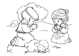 lds primary prayer coloring pages child praying page children for