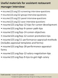 Attending An Academic Conference Sample Resume Restaurant Manager