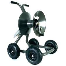 garden cart hose reel with wheels portable wagons menards retractable air