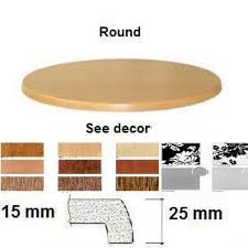 werzalit round table tops 600mm options