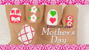 ♥Mother's Day Nail Art Designs- Pink Criss Cross, Hair Bows ...