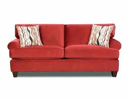 red sofa for