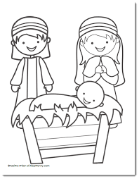 Free Nativity Coloring Page Christmas Nativity Coloring Pages